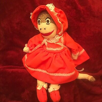Sock Monkey Plush  Grandma No Brand 17