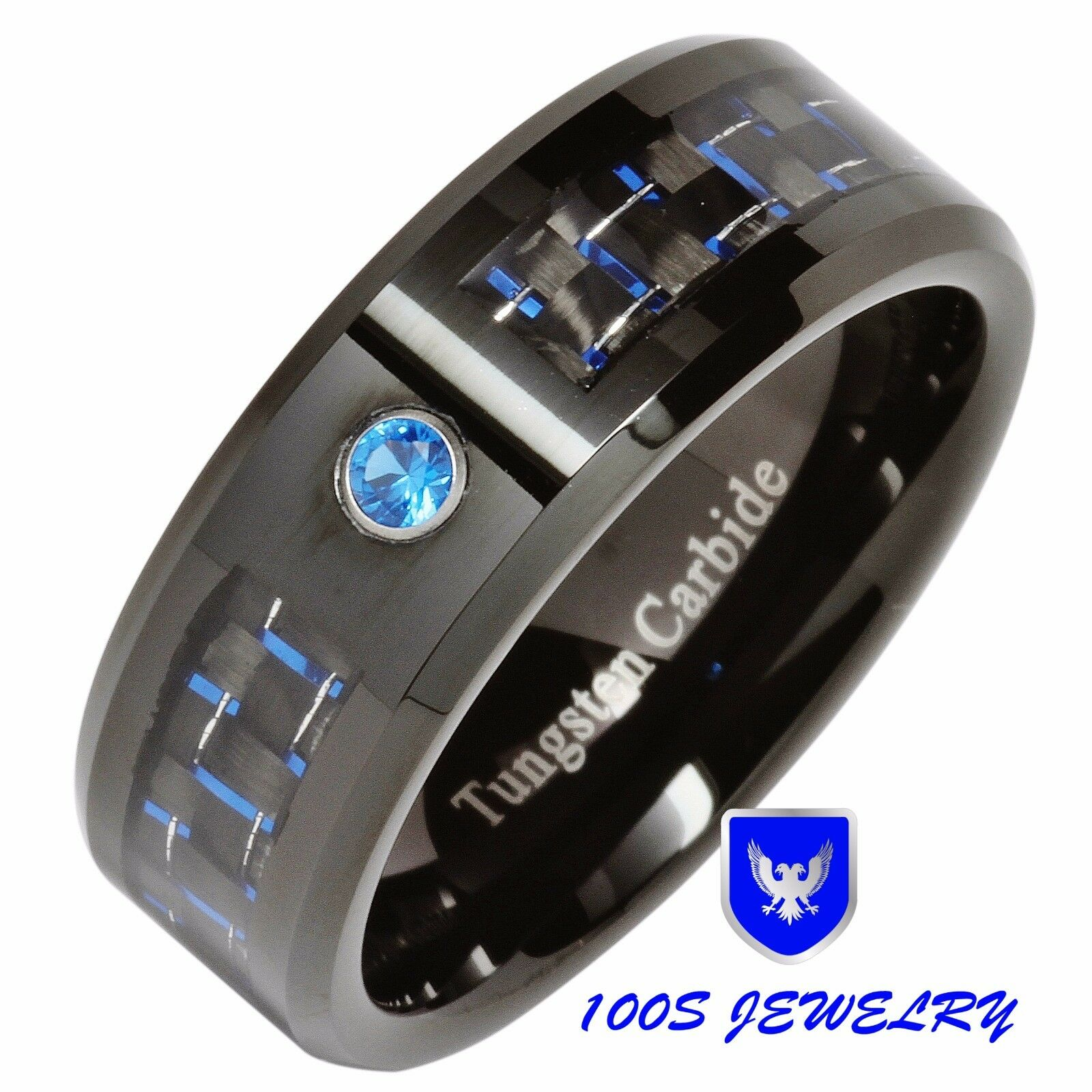 carbon rings com fiber wedding band cobalt gray men diamond s black and amazon inlay sizes ring dp with