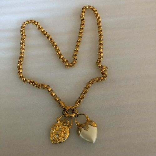 Joan Rivers Double Heart Charms Necklace