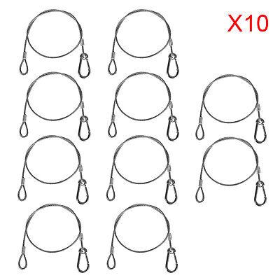 "Stage Light Rope Wire 25.5"" Par Hook Safety Strobe Light Cable Hanger 10PCS"