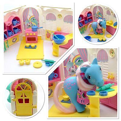 ⭐️ My Little Pony ⭐️ G1 Euro Kitchen Playset HTF w/orig Accessories!