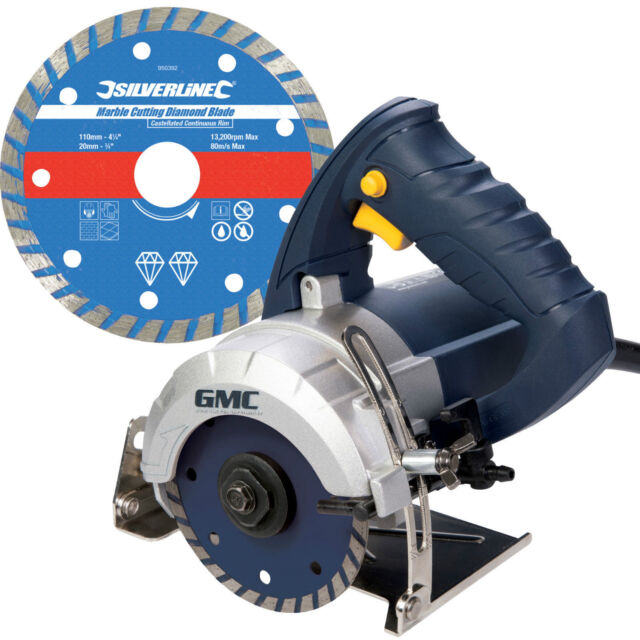 GMC Hand Held Wet Stone Cutter Saw And Blade Granite Ceramic Tile Marble Cutting