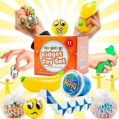 11 Fidget Sensory Toys Set Autism ADHD SEN Stress Relief Special Needs Education