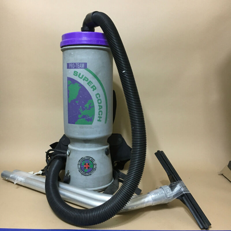 ProTeam Super Coach SCM-1122 HEPA Commercial Backpack Vacuum