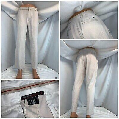 Nike Tiger Woods Golf Pants 32x29 Beige Poly Rayon Flat Front Mint YGI C0-95