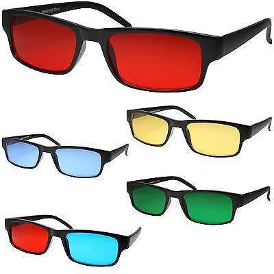 Colorful Premium Black Rectangle Nerd Glasses Smart Color Lens Sunglasses (Rectangle Sunglasses)