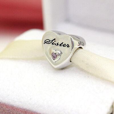 * Authentic Pandora Sister's Love #791946PCZ Best Friend Valentines Day (Best Friend Pandora Bead)