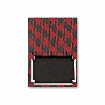 Place Cards Black and Red Plaid Black Chalk Board Name Place Pack 36 - Black Place Cards