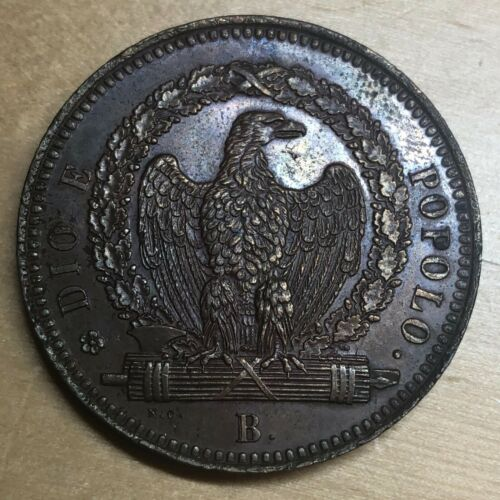 Italian States - Roman Republic 1849 B 3 Baiocchi; KM-23.2; AU+ (#cr136)