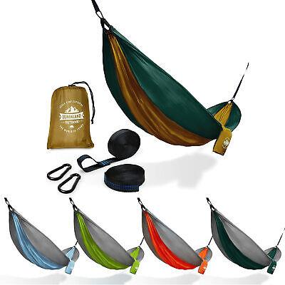 Garten Hängematte Ultraleicht 280x140 Camping Outdoor Hängeliege 1-2 Personen