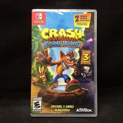 Crash Bandicoot  N  Sane Trilogy  Nintendo Switch  2018  Brand New Region Free