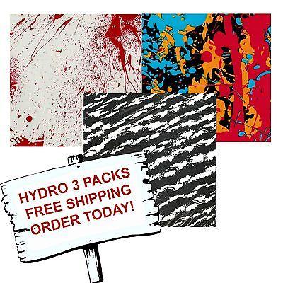 Hydro Dip Hydrographic Film Water Transfer Printing Film Splatter 3 Pack