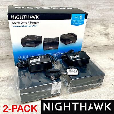 New Netgear Nighthawk AX1800 Wi-Fi 6 Dual-Band MK62 Mesh Router System 2-Pack