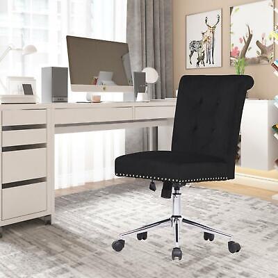 Armless Desk Chair Velvet Vanity Chair Home Office Chairs Living Room Bedroom
