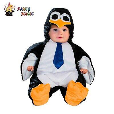 COSTUME CARNEVALE PINGUINO vestito superbaby tutina maschera 3-6 MESI neonato