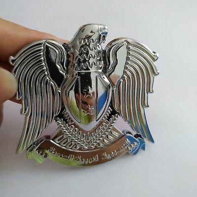 School Spirit Items (1x Silver Color Hawk Eagle 3D Car Auto Emblem Badge Sticker Decal Chromed Metal)