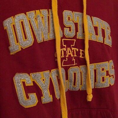 Iowa State Applique (Iowa State Cyclones NCAA Lorex Thread Applique Adult Large Hoodie Sweatshirt)