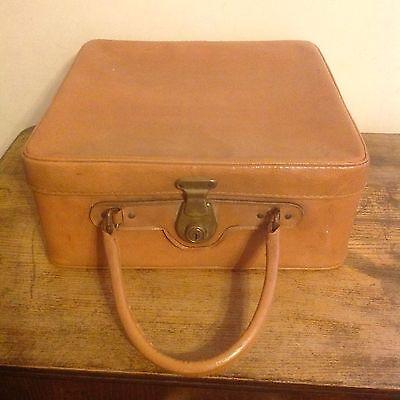 Vintage Retro Tan Antler Vanity Case Shoe Carrying Case Wedding Prop Display