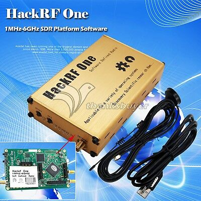 1MHz-6GHz SDR Platform Software Defined Radio HackRF One Acrylic Shell Golden, used for sale  China