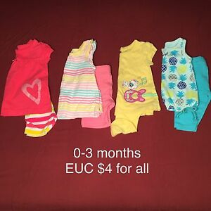 0-3, 3-6 month summer clothing