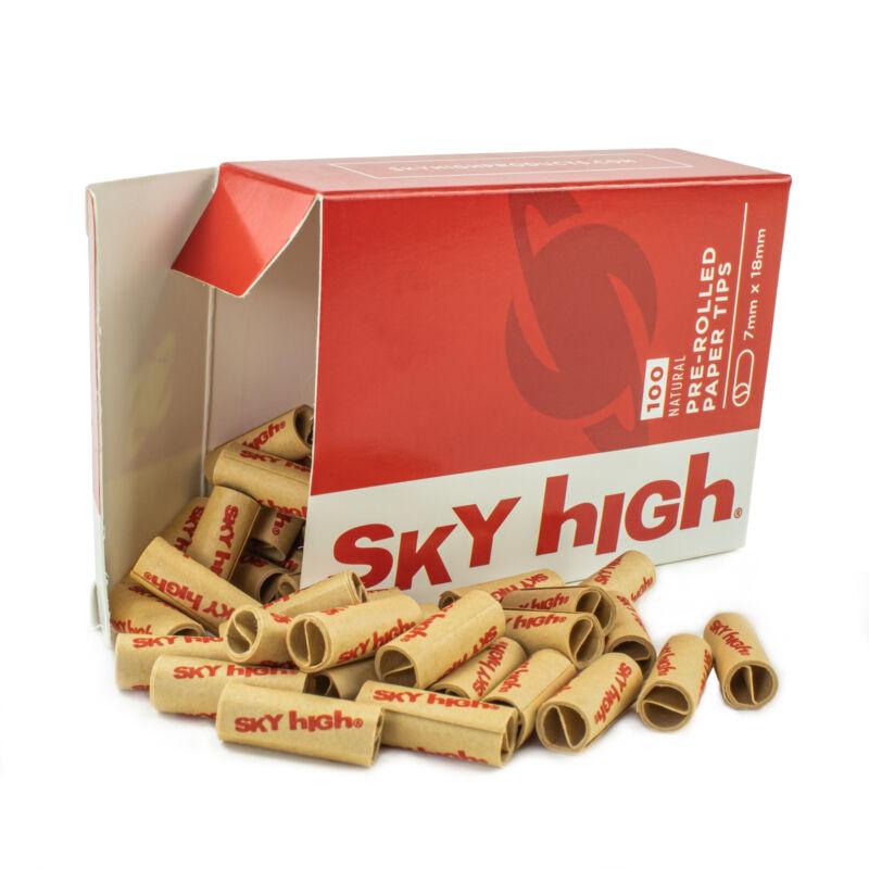Sky High Pre-Rolled Cigarette Filter Tips - 100 Tips