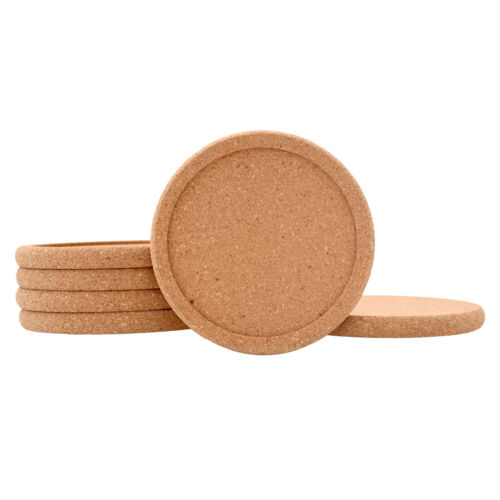 Natural Cork Coasters For Drinks Absorbent Heat&water Resistant Durable Saucers