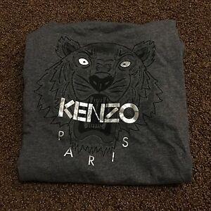 Kenzo Woman T-shirt Dark Grey Size M Paris Silver