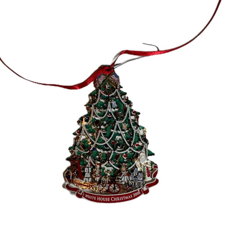 The White House Historical Association Christmas Ornament Box Harrison Tree 2008