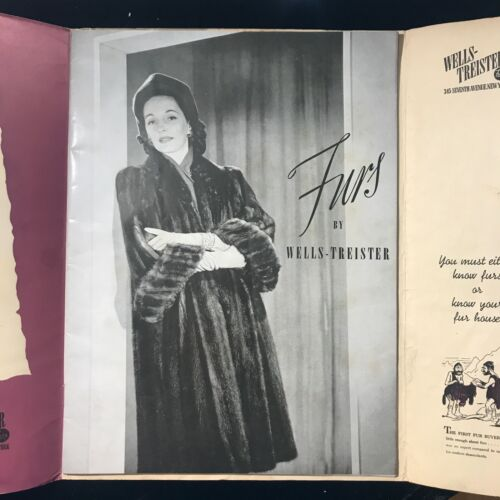 1943-1944 Fur Fashion Catalog and Wholesale Price List for Wells-Treister