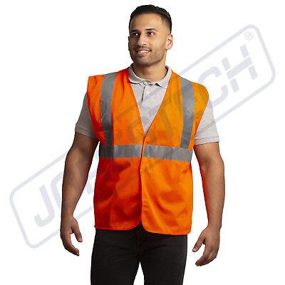 Safety Vest Ansi Class 2 Reflective Tape High Visibility Orange Jorestech