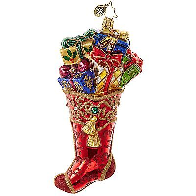 Christopher Radko - Stocking Overfloweth - Christmas Ornament  Presents 1018844