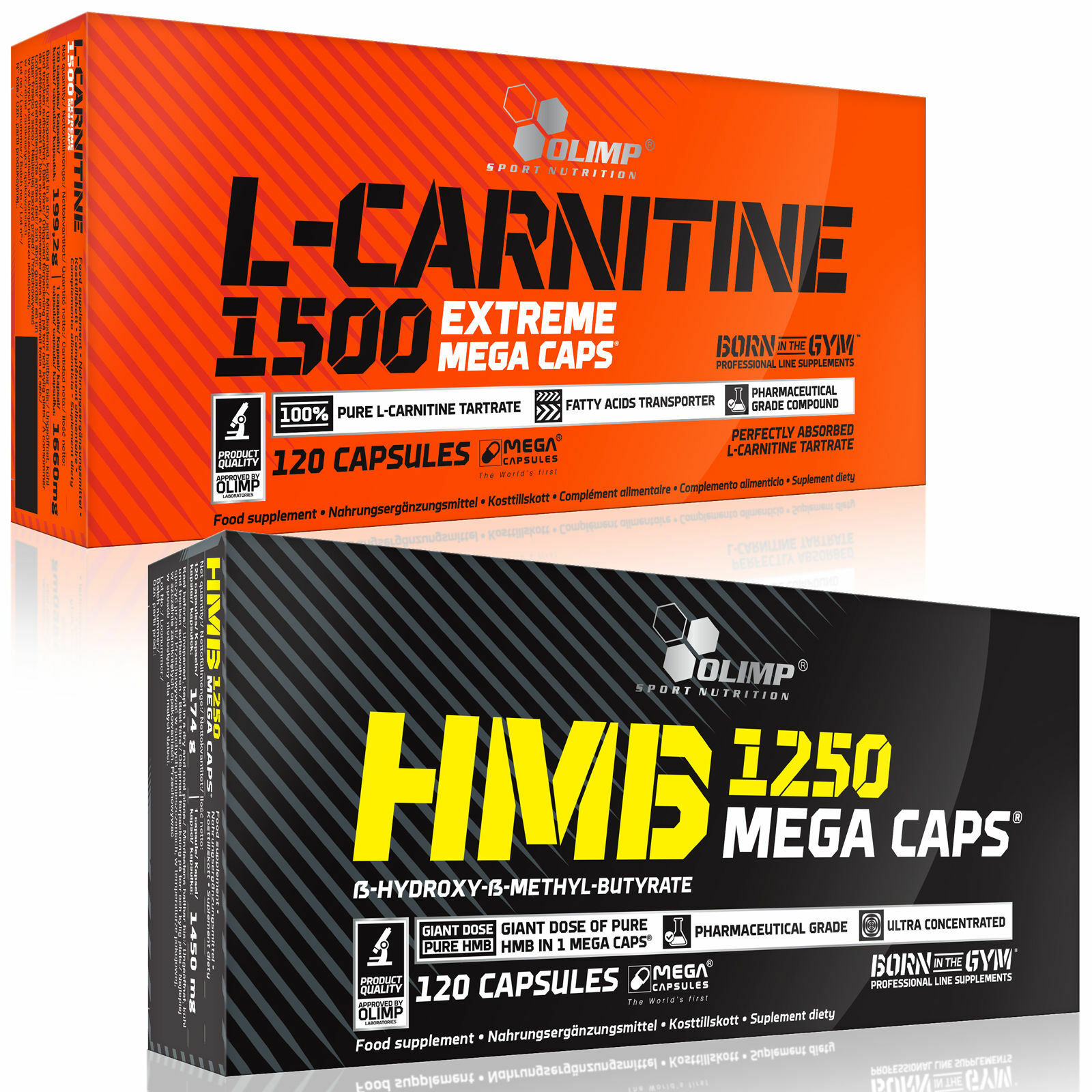 L-Carnitine + HMB 60-120 Capsules Non-Stimulant Fat Burner Weight Loss Slimming 1