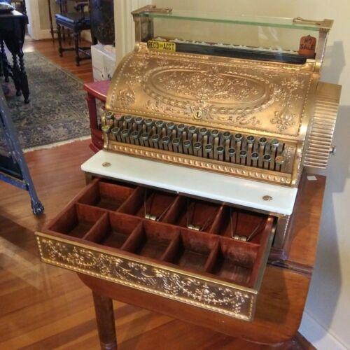 Antique NATIONAL CASH REGISTER Brass