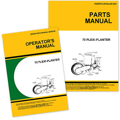 Operators Parts Manuals For John Deere 70 Flexi Planter Owners Catalog Grain