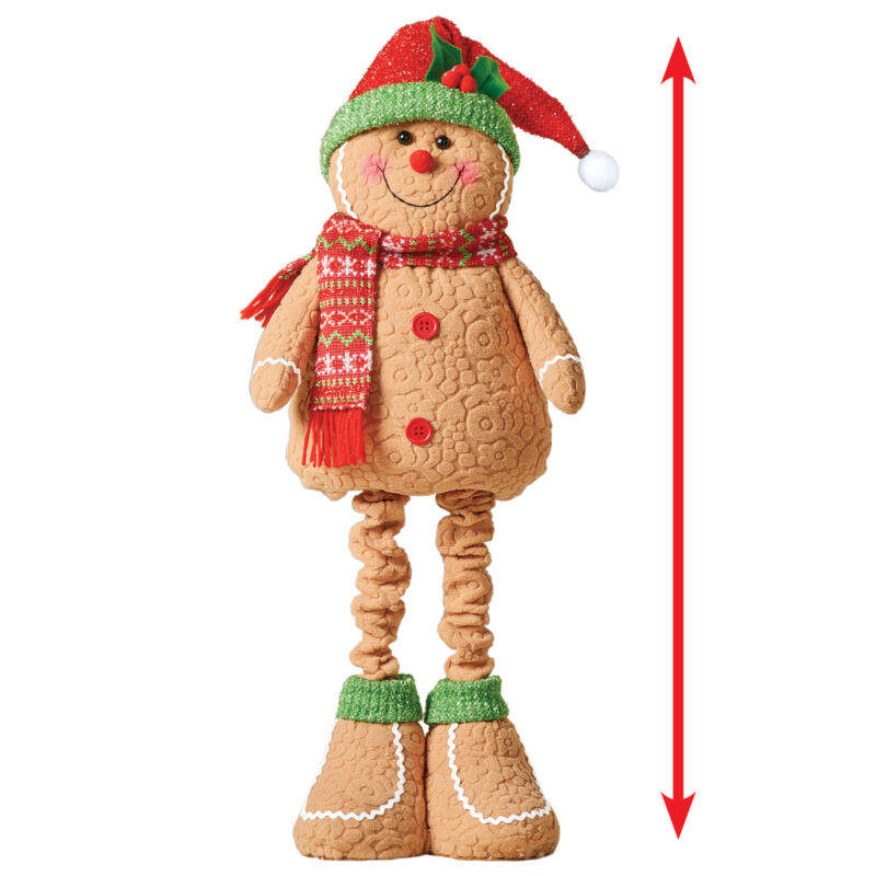Expandable Gingerbread Holiday Porch Greeter Decoration