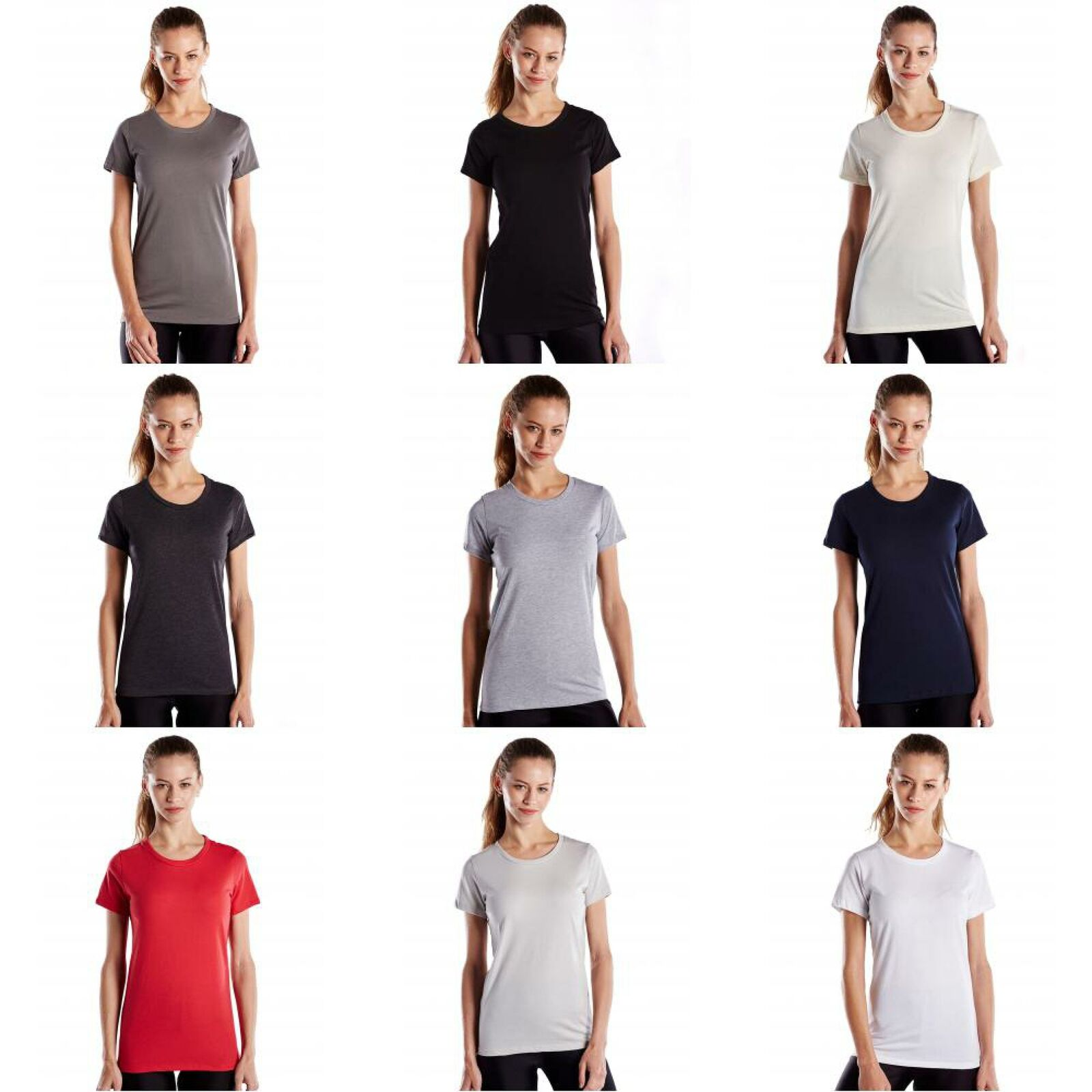 917a2448a3f2 US Blanks Women's Made in USA Short Sleeve Crewneck T-Shirt | eBay