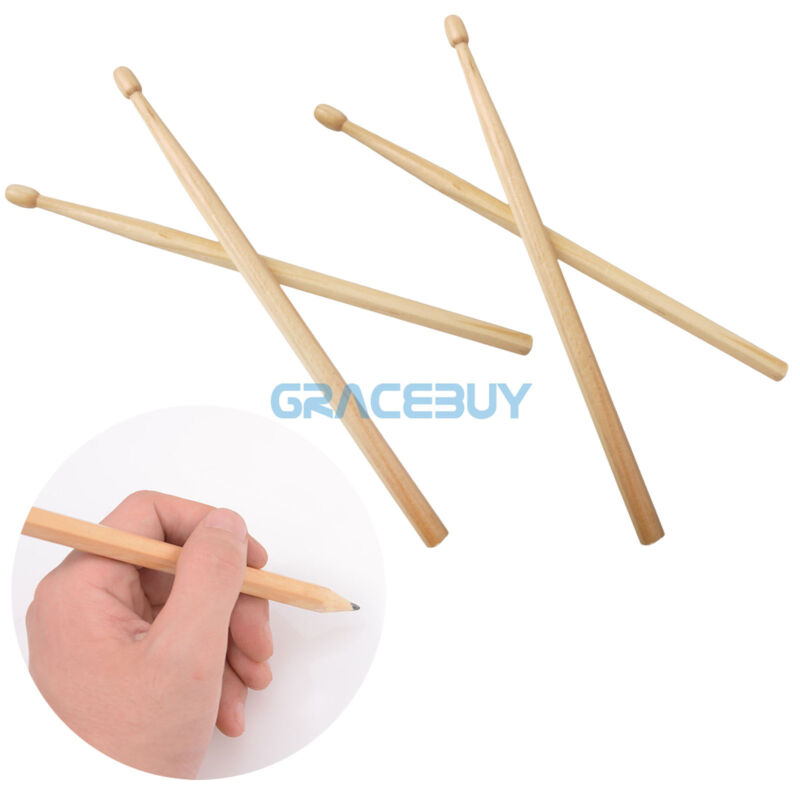 4pcs Drumstick Pencils Drawings pen Gift log processing Wooden Musical Drum Pen