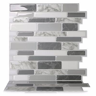 - Tic Tac Tiles® Peel and Stick Self Adhesive Smart Backsplash tiles Polito Gray