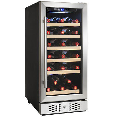 30 Bottle Single Zone Built-in Compressor Wine Cooler Touch Control Wine Cooler