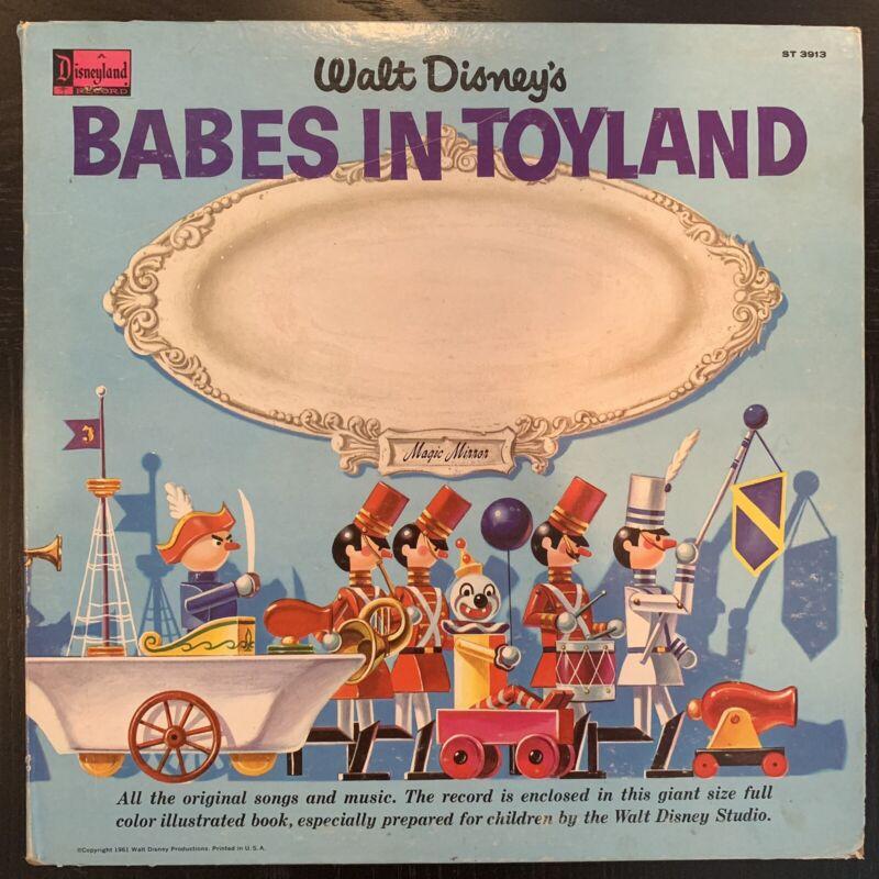 "MFG ERROR Disney's Babes In Toyland LP & Storybook Magic Mirror Vinyl Record 12"""