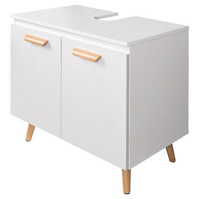 Waschtischunterschrank Weiß Badschrank Waschbecken Badmöbel Badezimmerschrank