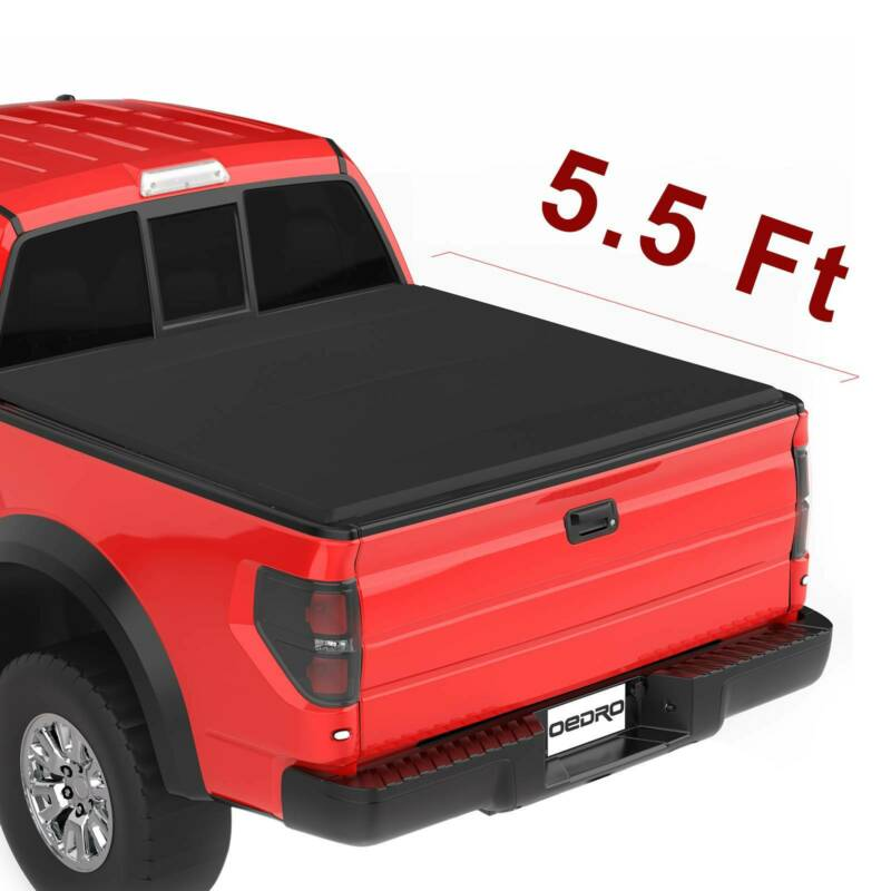 Oedro Tri Fold Truck Bed Tonneau Cover Fit For 09 14 Ford F 150 Styleside 5 5ft Ebay