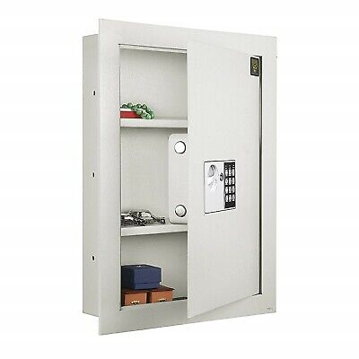 Hidden Wall Gun Safe (Large Hidden Wall Safe Electronic Security Jewelry Gun Cash Lock Box Fire)