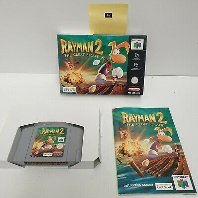 RAYMAN 2 The Great Escape Nintendo 64 N64 Game PAL Complete Boxed oz47