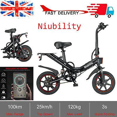 """Niubility 14"""" Folding Electric Bike City ebike 100KM Long Range 400W 25km/h X8D8"""