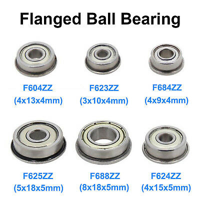 Zz Mini Metal Double Shielded Flanged Ball Bearing For Cnc 3d Printer Parts