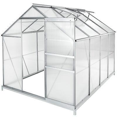 Invernadero de jardín policarbonato con base casero plantas cultivos 7,6m³