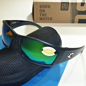17b46987454fd Costa Del Mar Corbina Polarized Sunglasses - Black Frame Green Mirror 580P  Lens