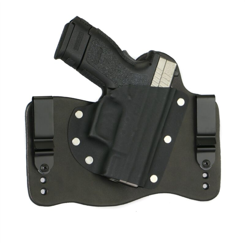 FoxX Leather & Kydex IWB Holster Springfield XD9 & XD40 Subcompact Black Right