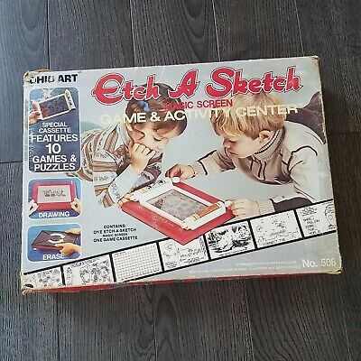 ETCH A SKETCH (From 1981 Ohio Art) Game & Activity Center +